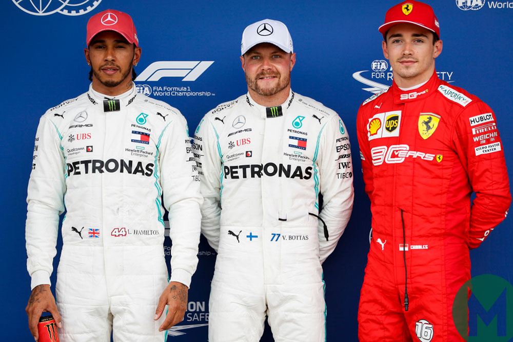 2019 British Grand Prix top three qualifiers
