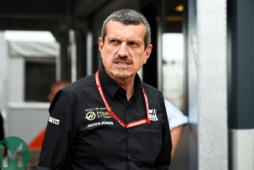 Guenther Steiner at the 2019 British Grand Prix