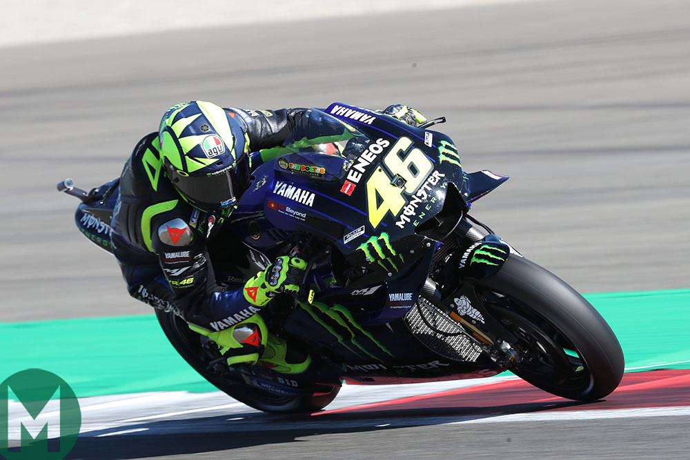 Valentino Rossi on track at the 2019 MotoGP Dutch TT