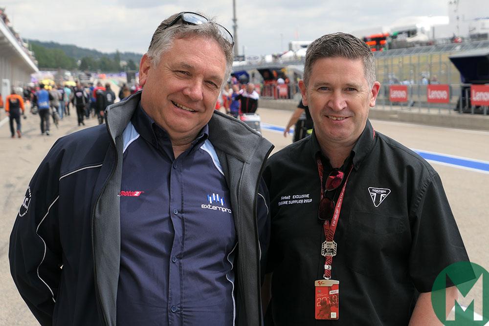 Trevor Morris (ExternPro) and Steve Sargent (Triumph)