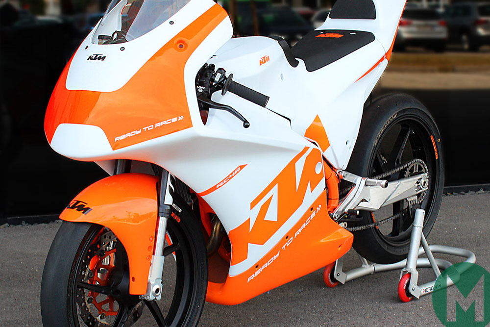 KTM's new RC4R for the new road-to-MotoGP series, the Northern Talent Cup