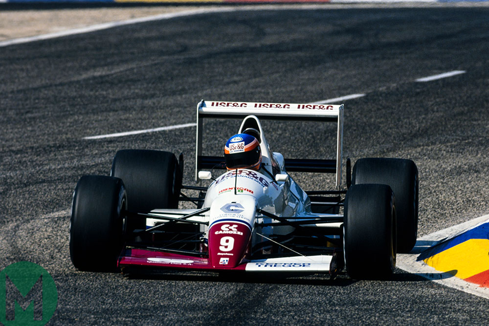 Donnelly made a one-off appearance for Arrows in 1989 French Grand Prix at Paul Ricard