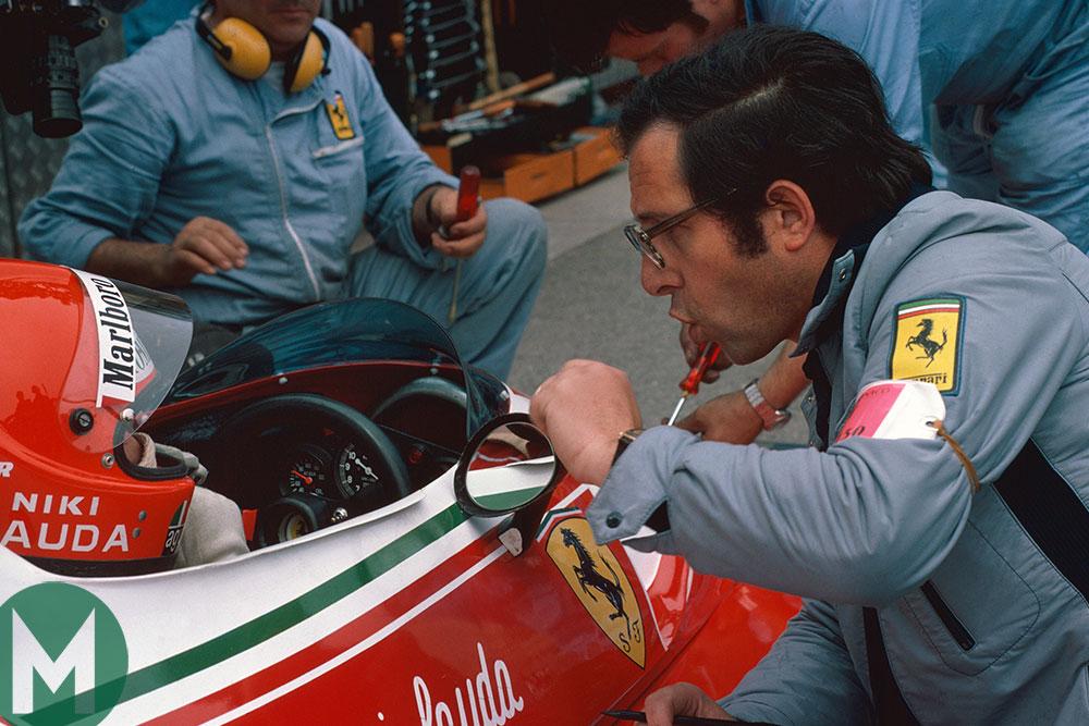 Mauro Forghieri with Niki Lauda led Ferrari's mid-1970s domination of F1