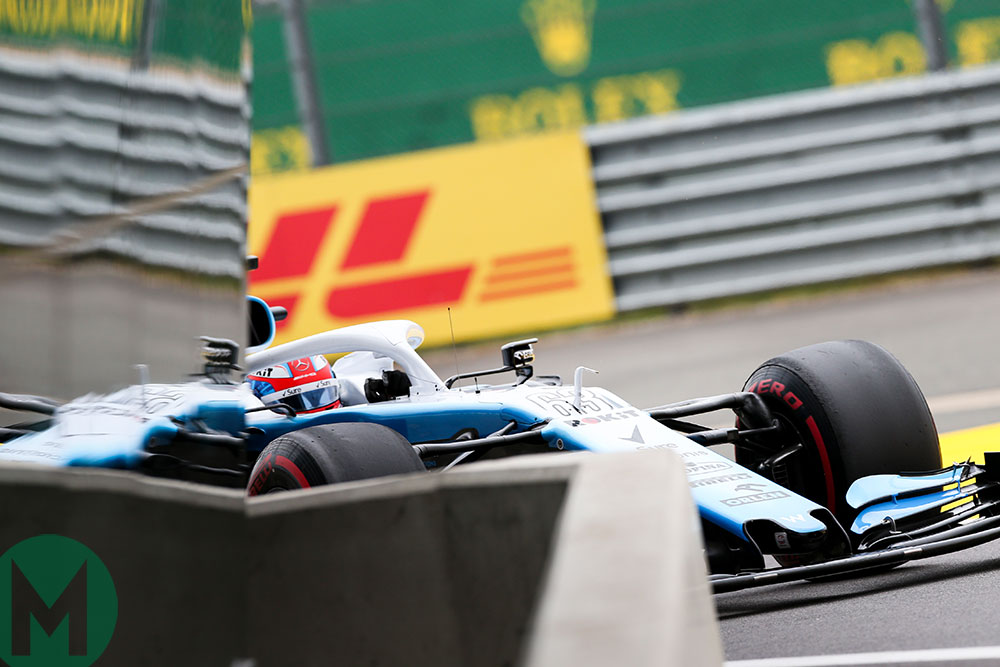 Williams' George Russell in the 2019 British Grand Prix