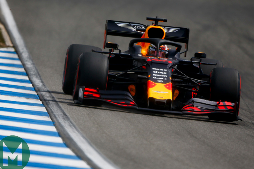 Max Verstappen in qualifying for the 2019 German Grand Prix