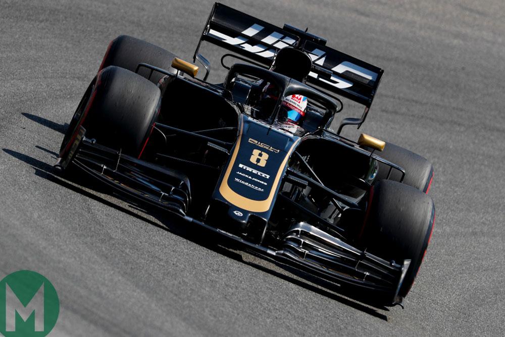 Romain Grosjean at Hockenheim ahead of the 2019 German Grand Prix
