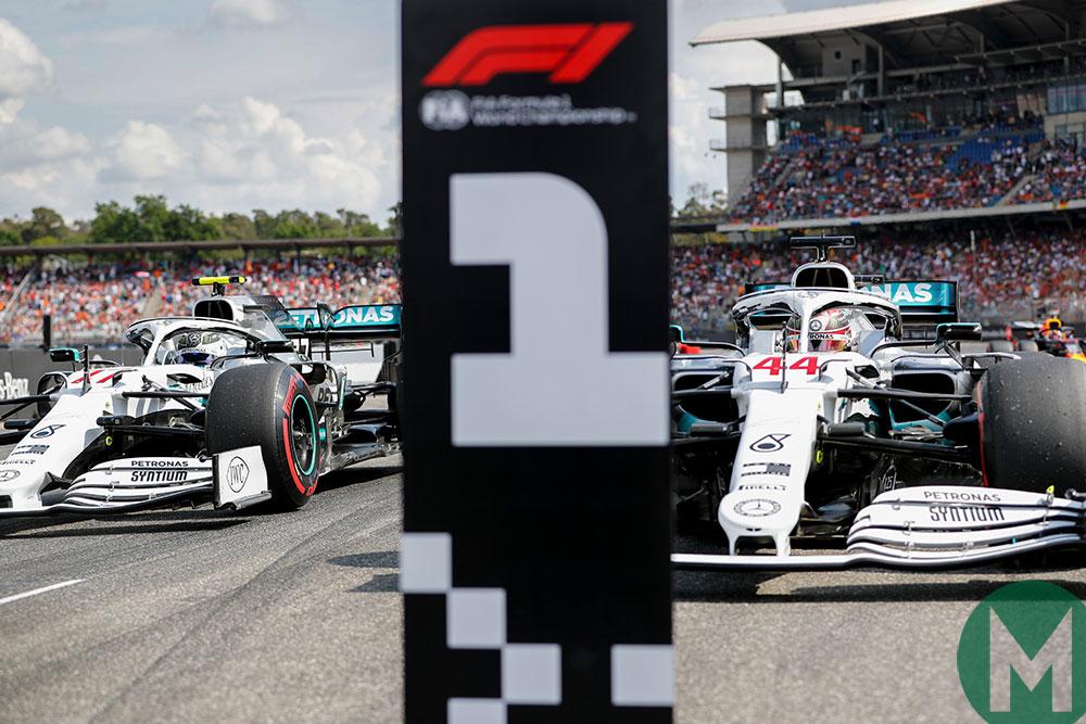 Lewis Hamilton Valtteri Bottas Mercedes 2019 German GP