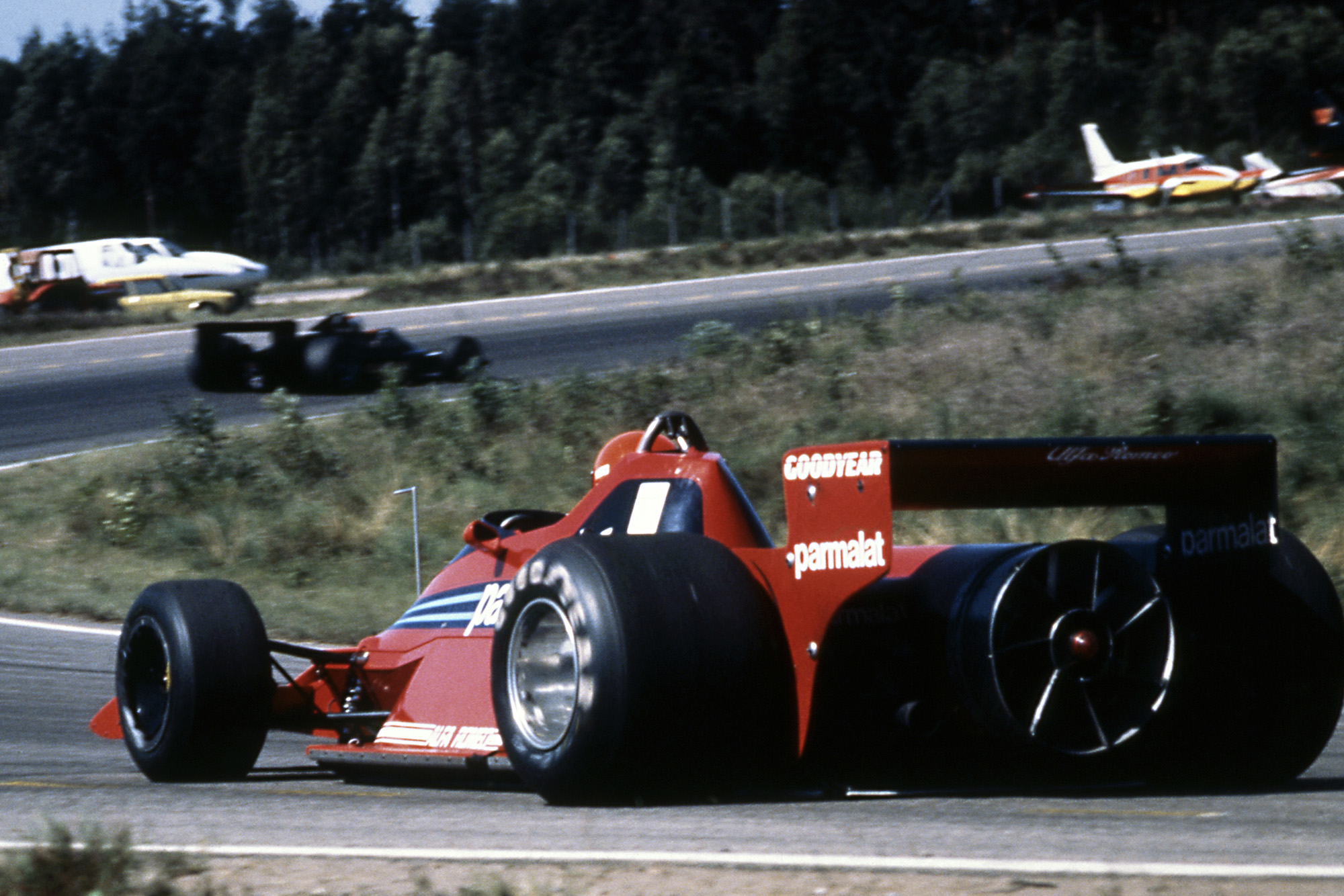 Rear shot of the Brabham fan car at the 1978 Swedish GP