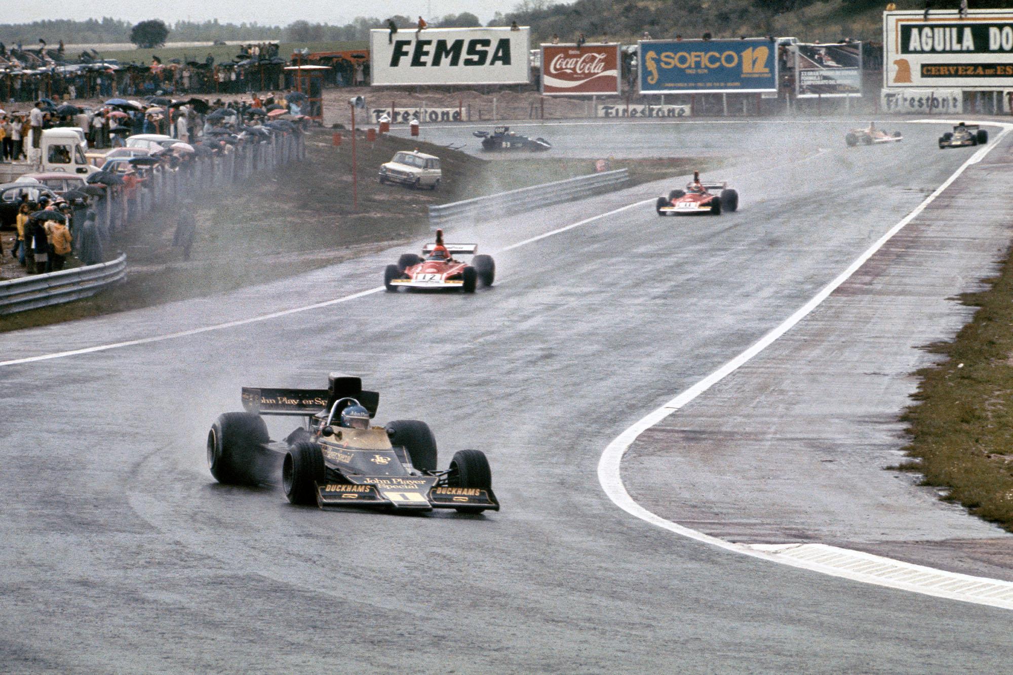 Ronnie Peterson leads Niki Lauda