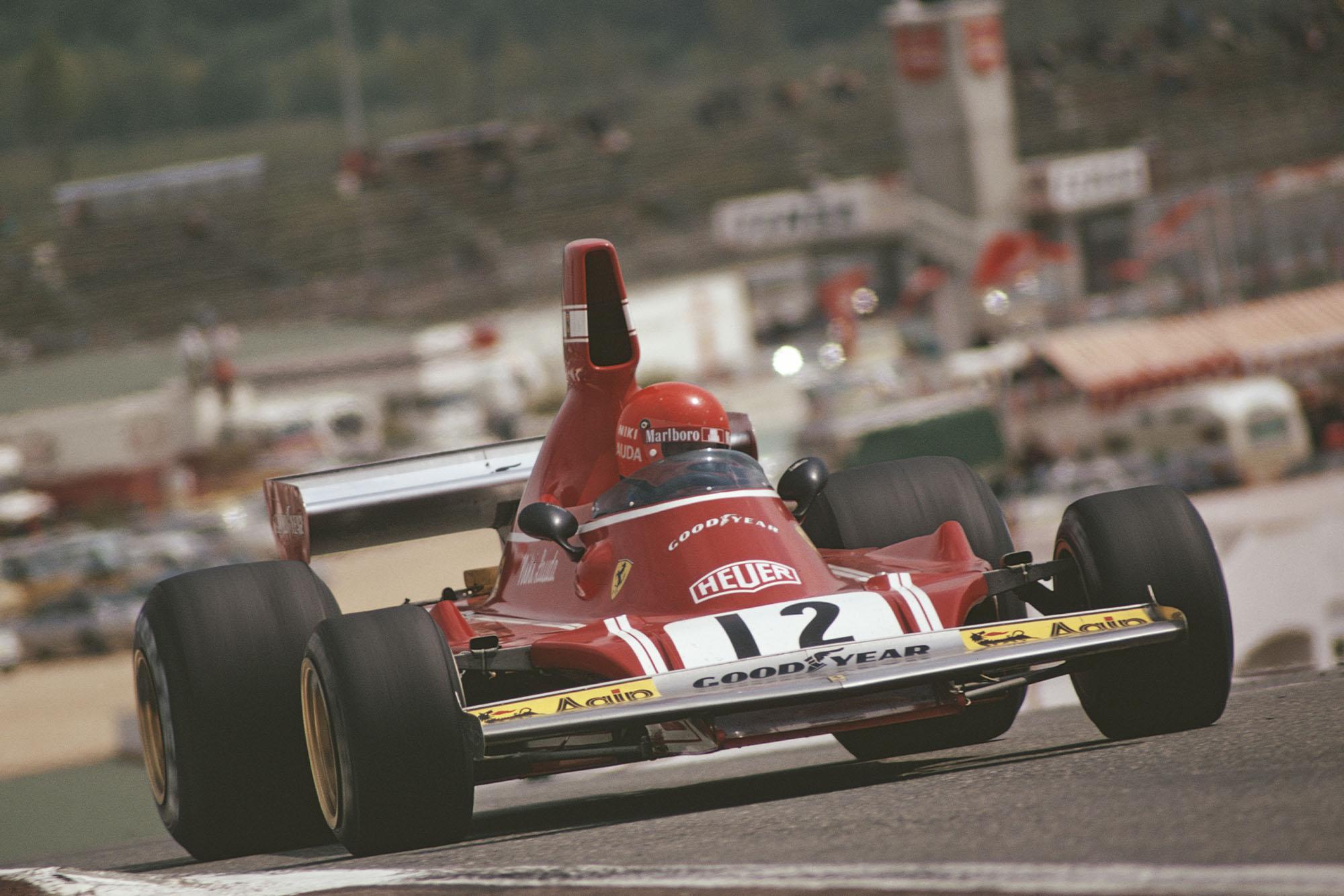 Niki Lauda (Ferrari) at the 1974 Spanish Grand Prix, Jarama.