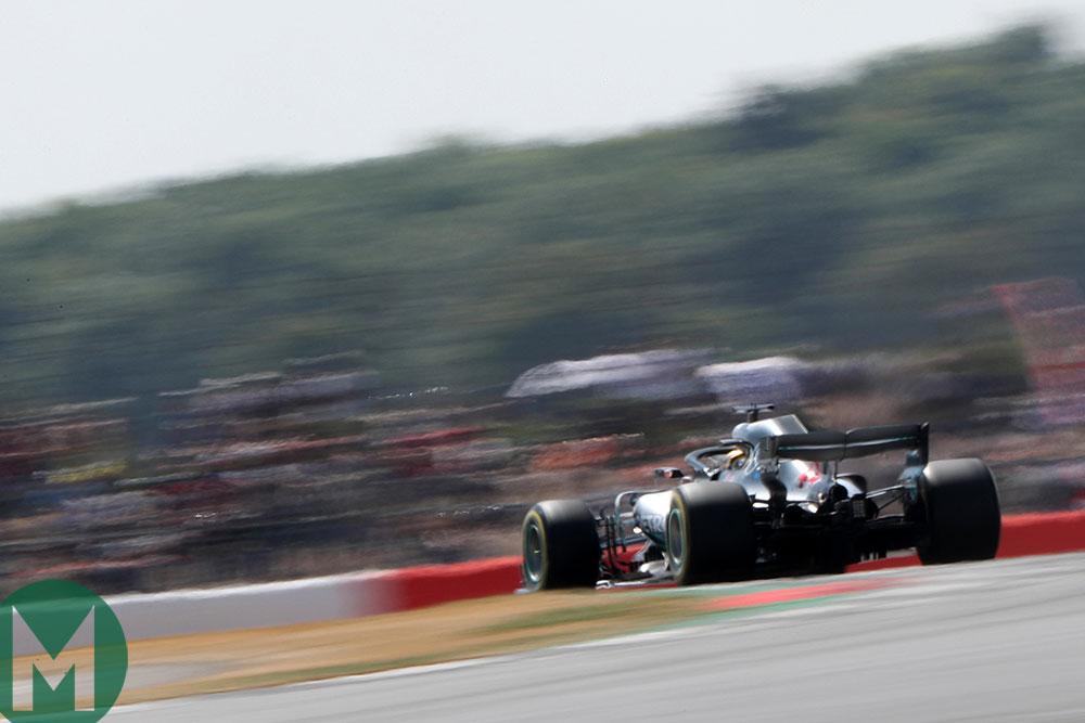 Lewis Hamilton negotiates Silverstone's sweeps in the 2018 British Grand Prix