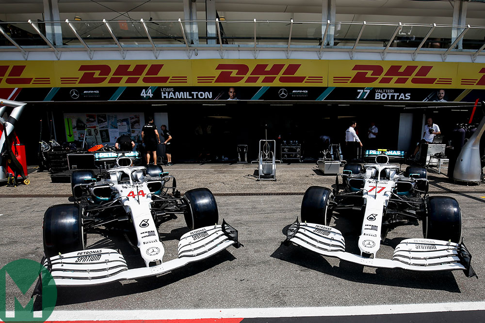 Mercedes reveals a special white livery for this weekend's German Grand Prix to commemorate '125 years of motor sport'