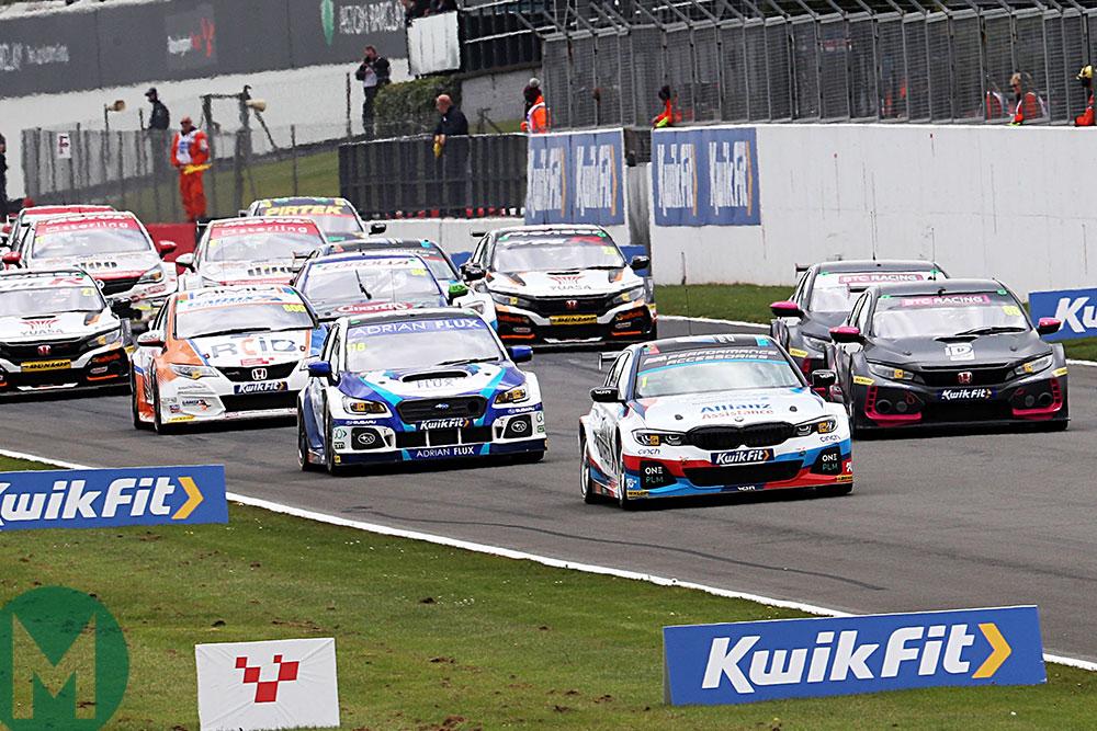 The start at BTCC's Donington round this year