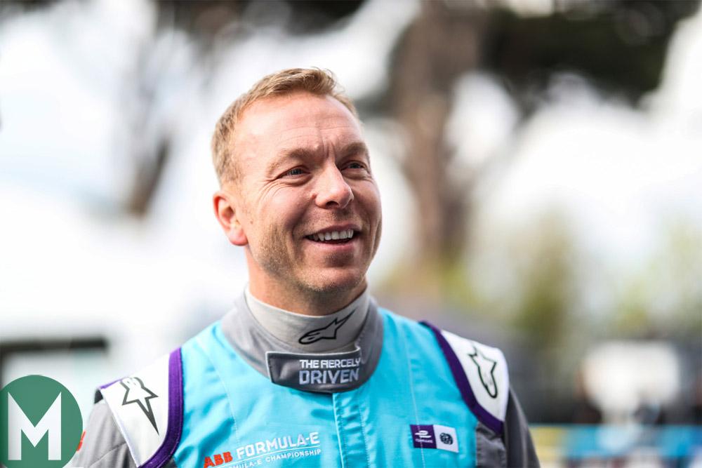 Sir Chris Hoy at a Formula E promotional event