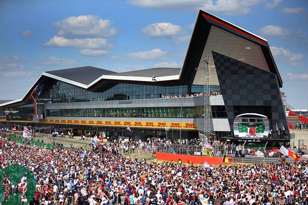 Silverstone podium ceremony