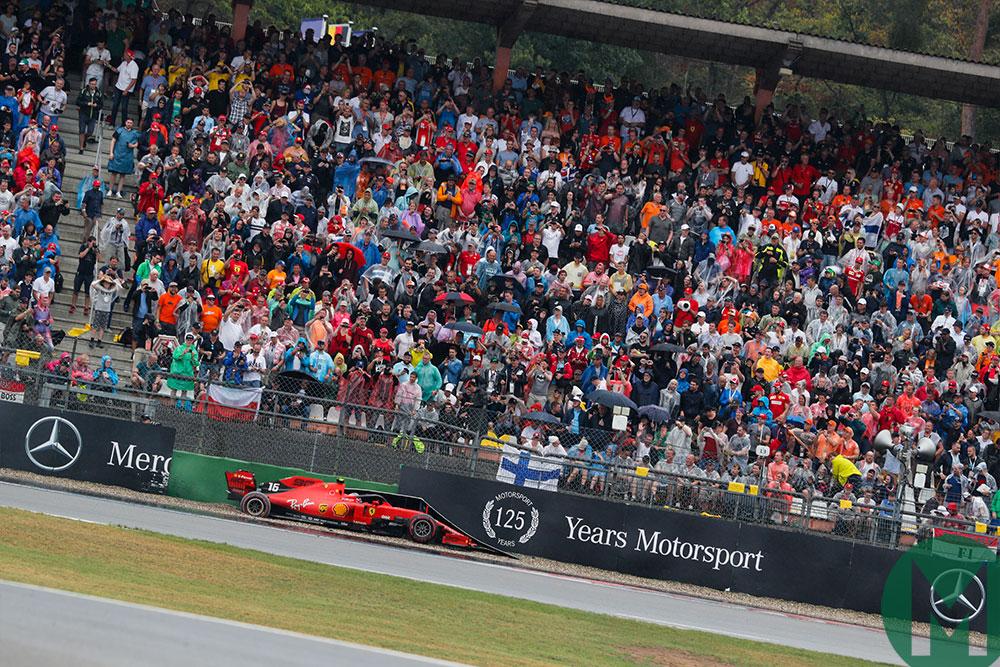 Charles Leclerc crash 2019 German GP Ferrari