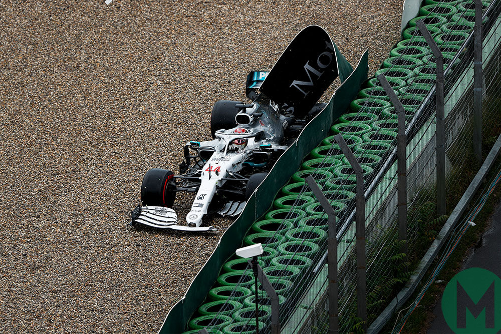 Hamilton crash Mercedes German GP 2019