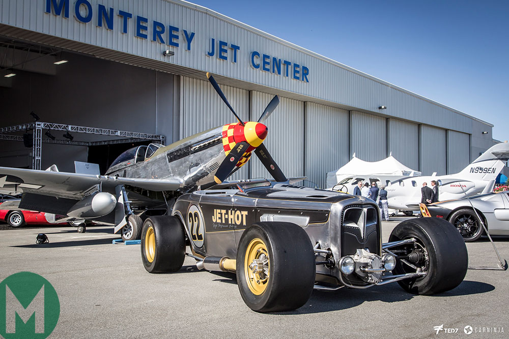 Hot rods and aircraft at McCall's Motorworks Revival