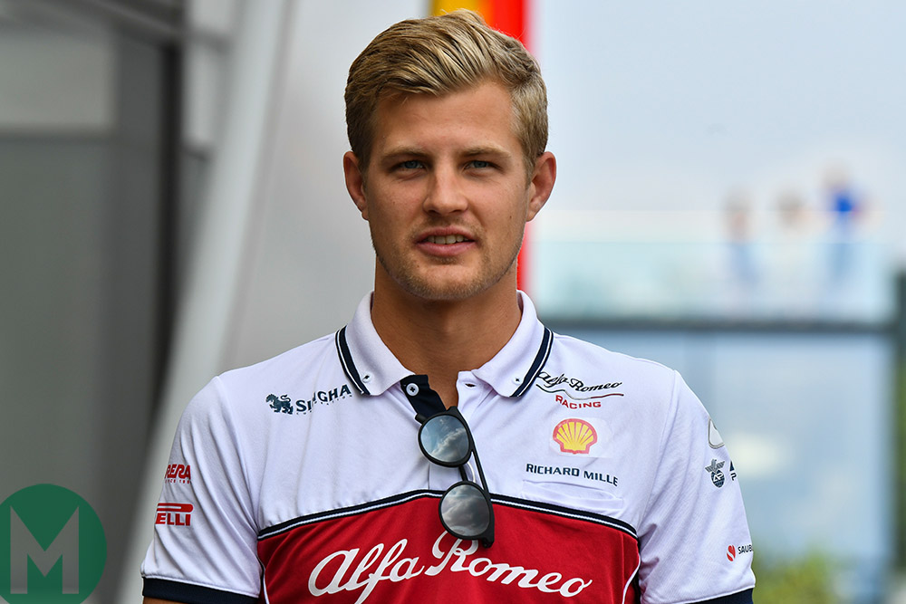 Marcus Ericsson in Alfa Romeo gear ahead of the 2019 Belgian Grand Prix