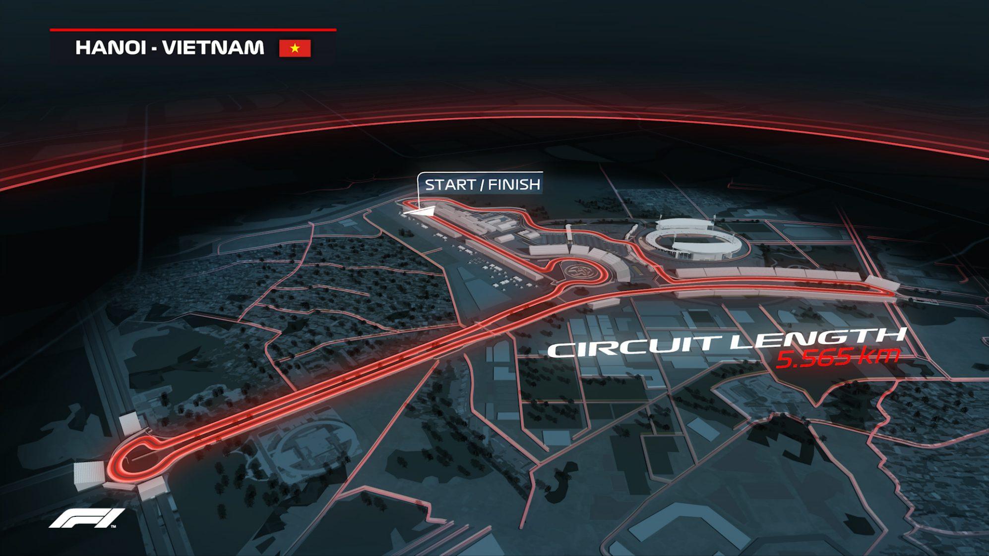 F1 Hanoi track map