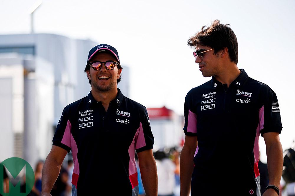 Sergio Perez and Lance Stroll