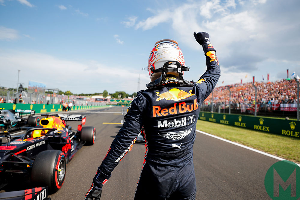 Verstappen delights the travelling Dutch contingent by taking his first ever F1 pole