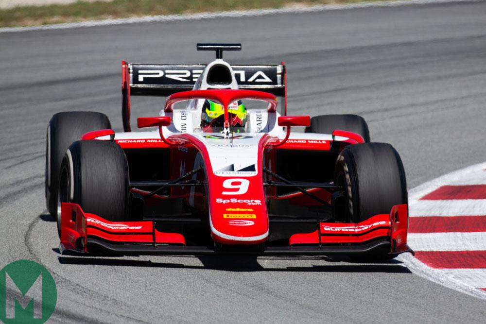 Mick Schumacher during the Spanish Grand Prix weekend in Formula 2