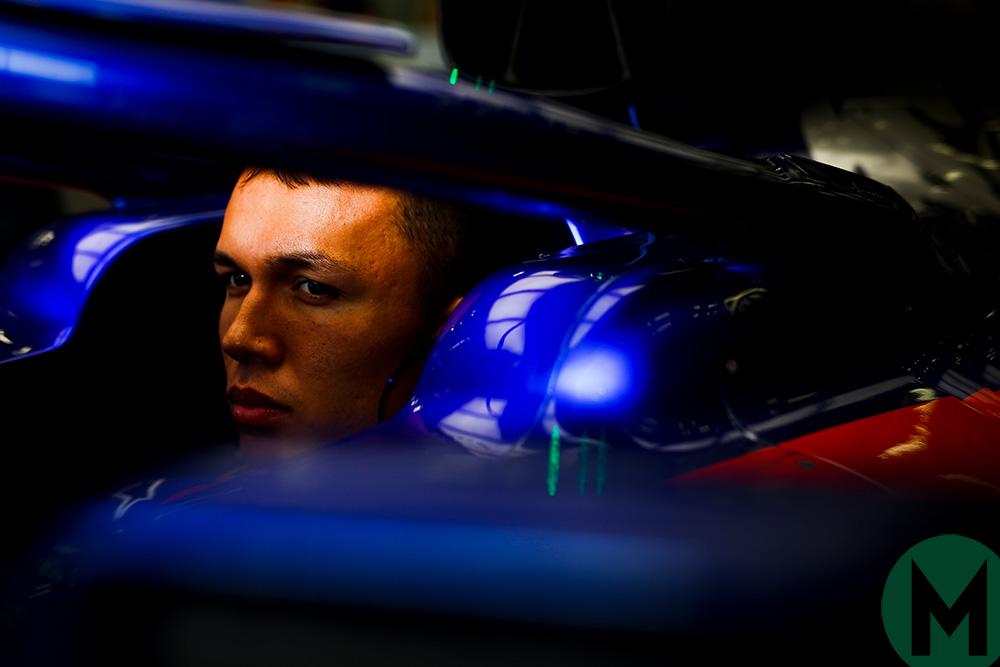 Alexander Albon in the 2019 Toro Rosso