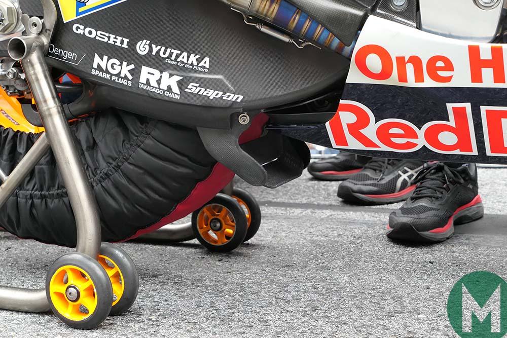HRC swingarm spoiler at the 2019 MotoGP Austrian Grand Prix