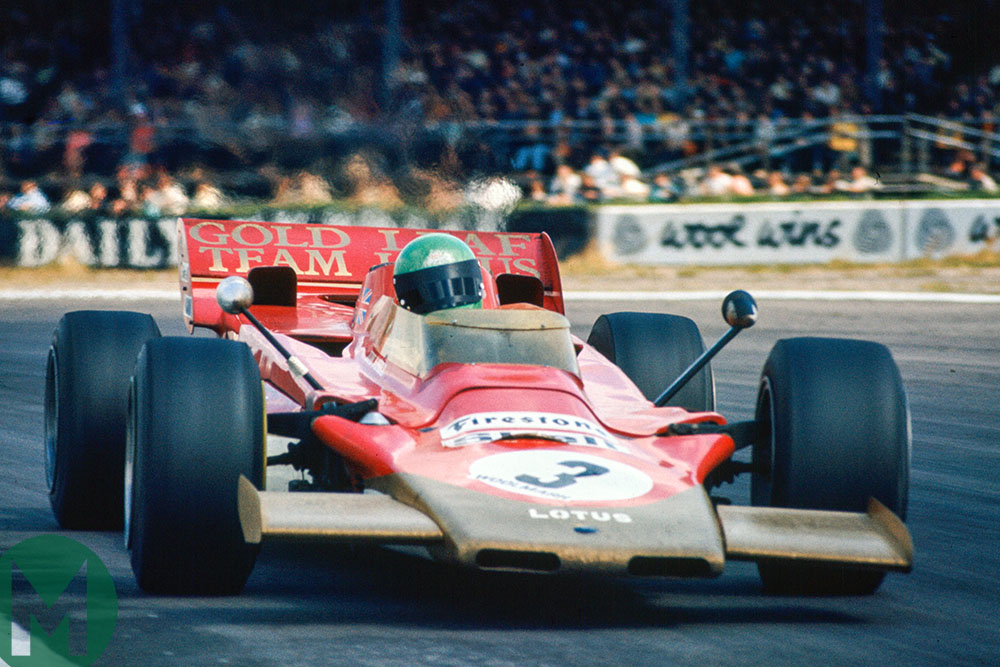 Reine Wisell in a Lotus 56B at the 1971 British Grand Prix at Silverstone