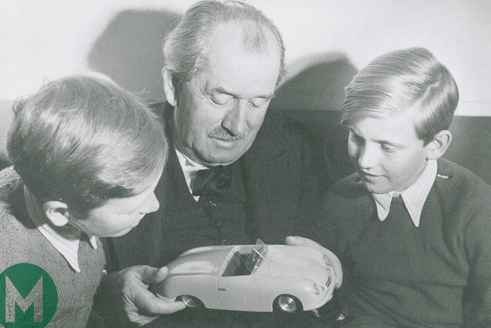 Ferdinand Porsche with Ferdinand Piëch