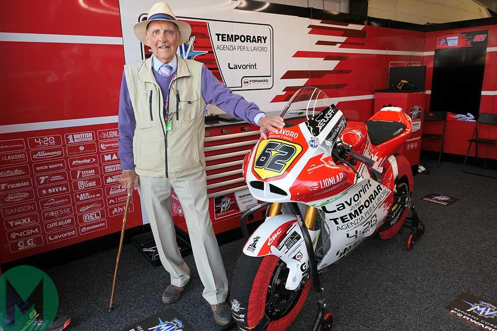 Cecil Sandford at the 2019 British MotoGP