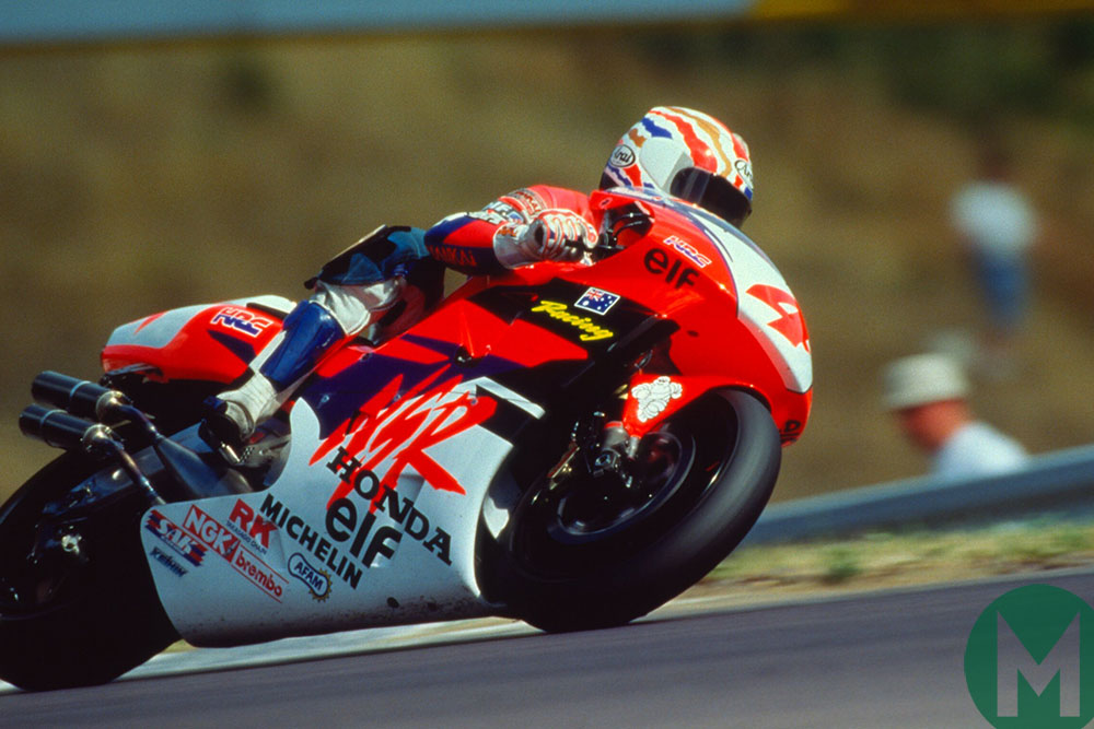 Mick Doohan riding his Honda in 1994 on the way to the title
