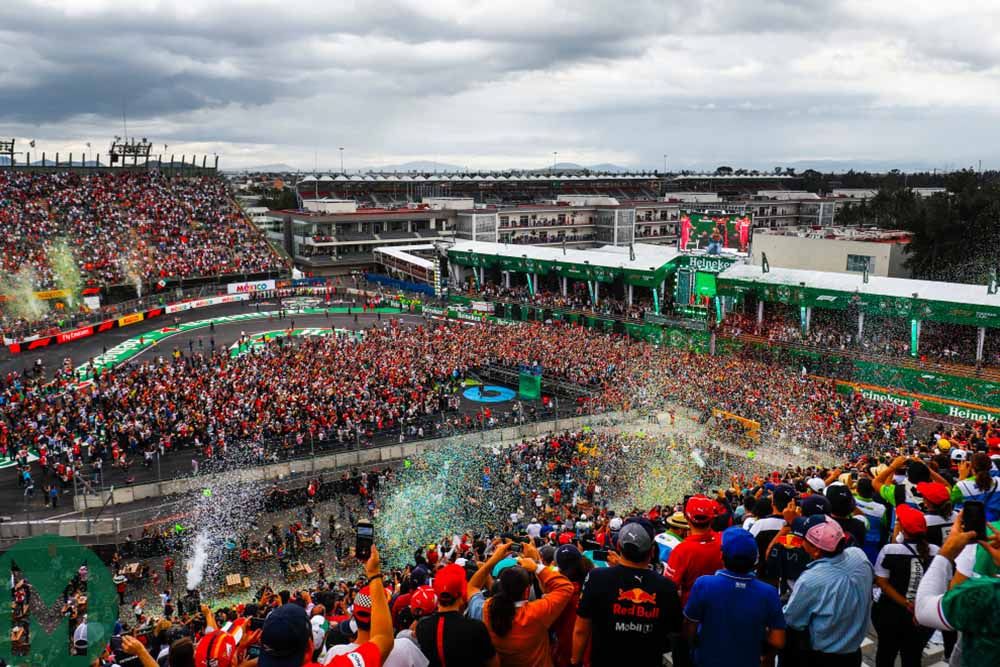 The stadium section of the Mexican Grand Prix circuit following the 2018 Formula 1 race
