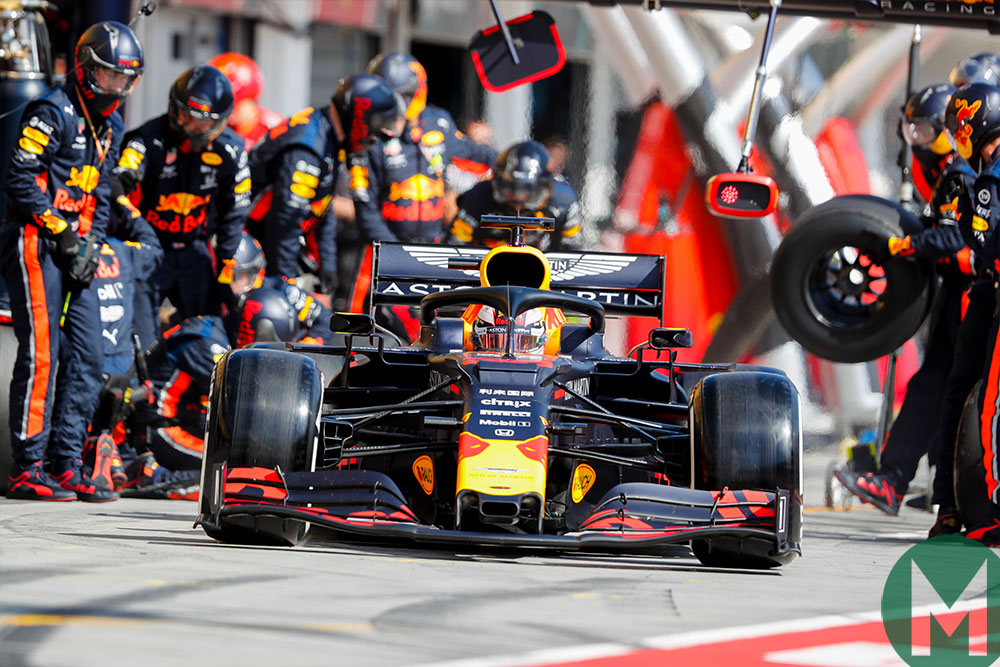 Verstappen blinked first and pitted on the 25th lap