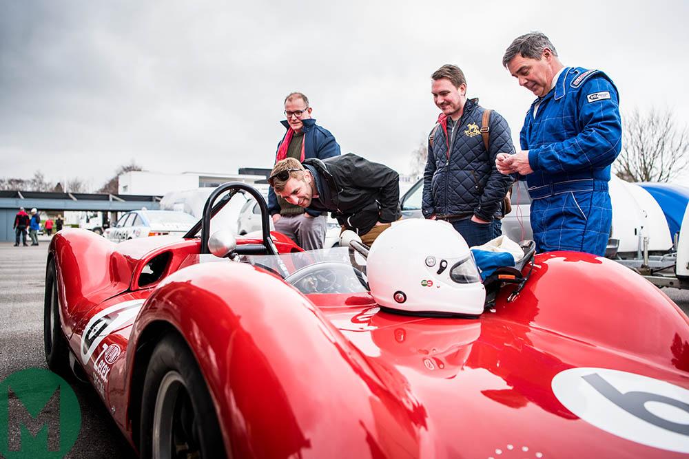 McLaren development driver Joe Osborne, Greg Heacock, who led much of the restoration, along with our own correspondentRobert Ladbrook and editor Joe Dunn, admire the Zerex