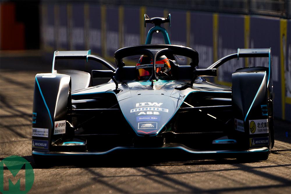 Stoffel Vandoorne in the HWA Racelab Formula E car