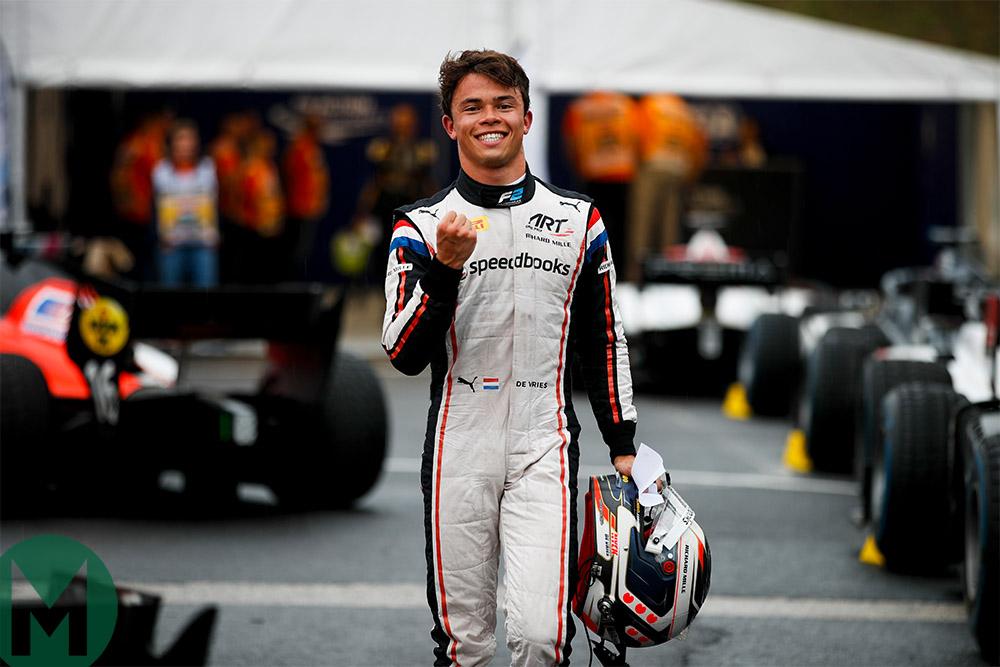 Nyck de Vries leads the Formula 2 championship with ART Grand Prix