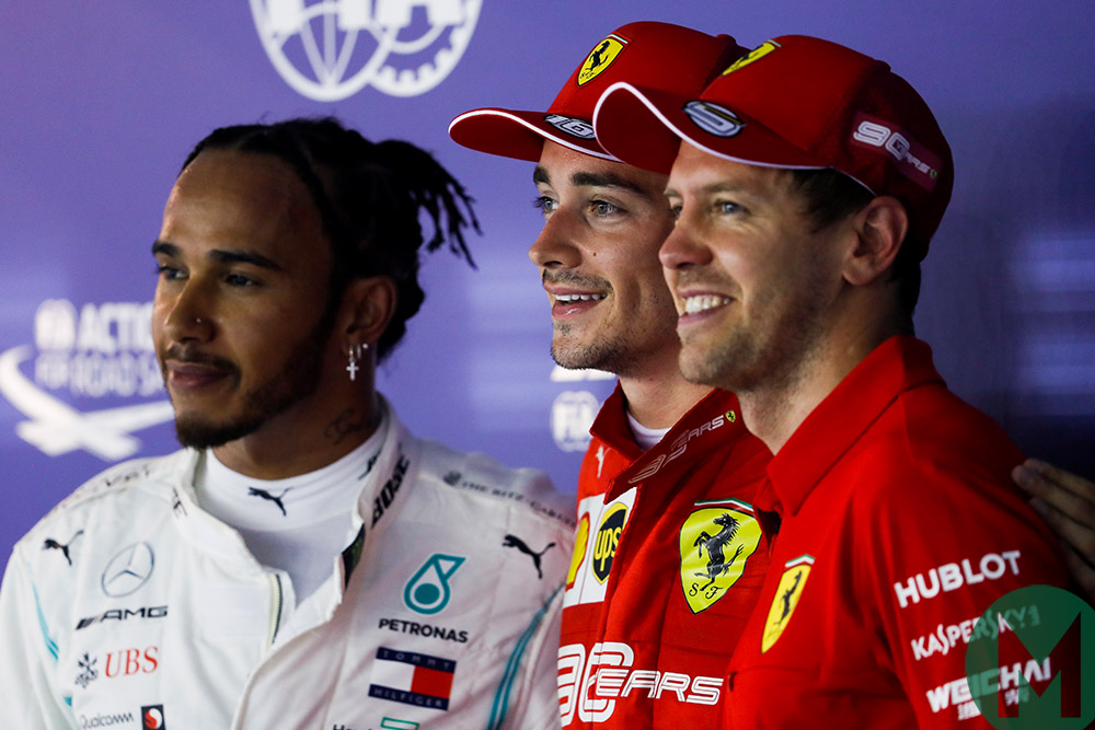 Lewis Hamilton, Charles Leclerc and Sebastian Vettel: the top three qualifiers at the 2019 Singapore Grand Prix