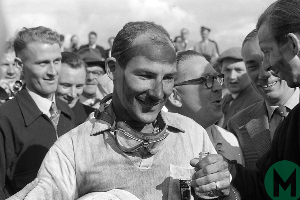 Sir Stirling Moss at the 1957 British Grand Prix