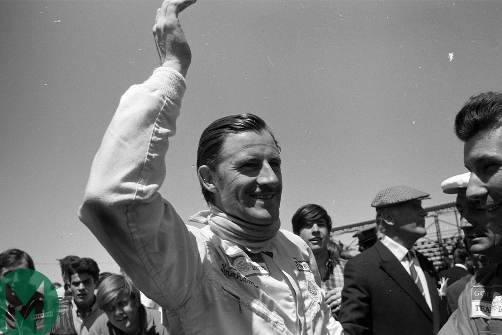 Graham Hill at the 1968 Spanish Grand Prix