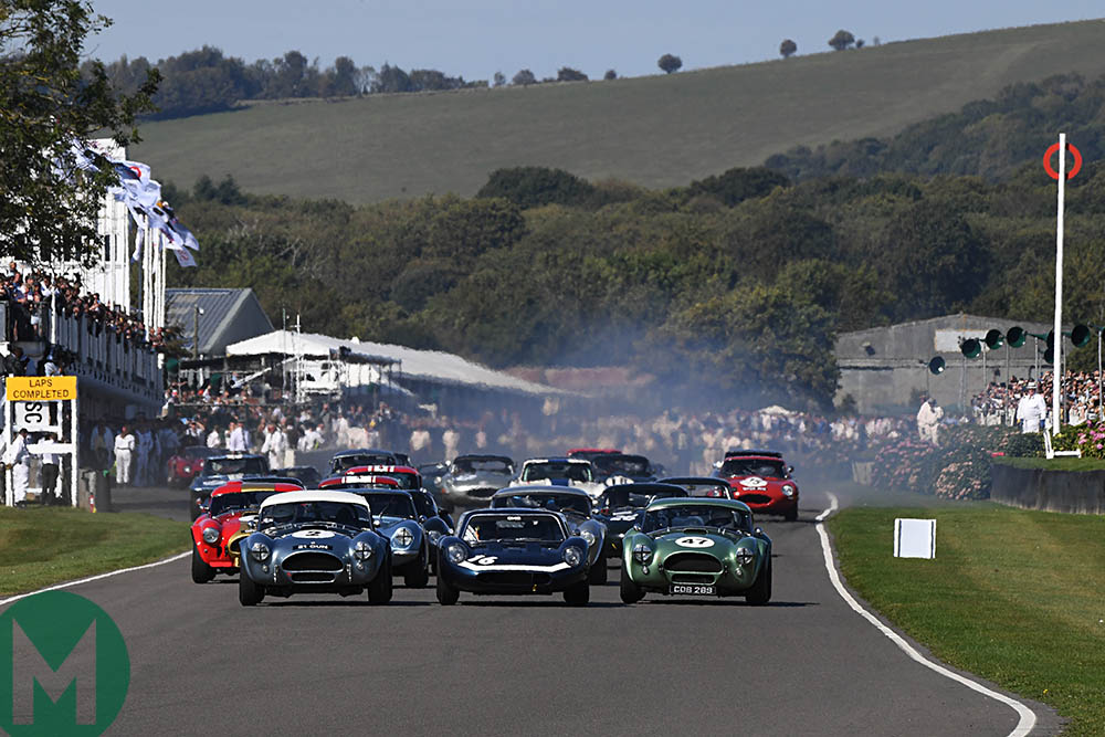 Candid drivers, filling silence and the best view in the house: hosting the Goodwood Revival
