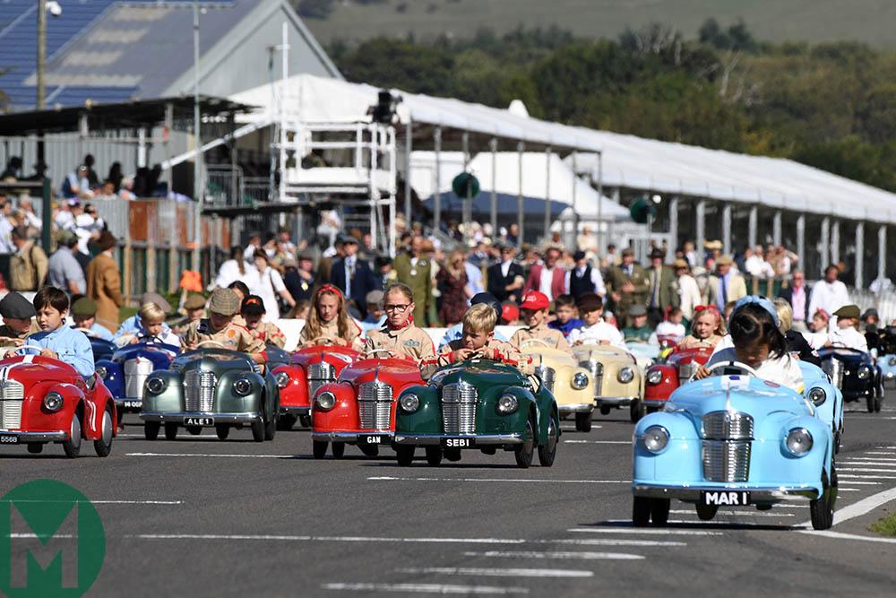 Settrington pedal car race at the 2019 Goodwood Revival