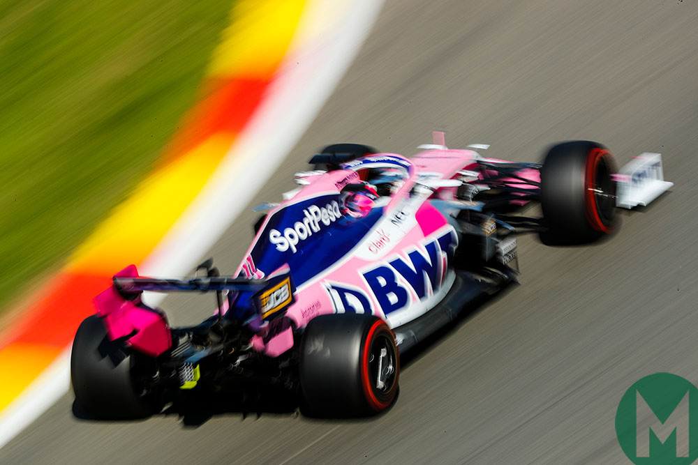 Sergio Perez in qualifying for the 2019 F1 Belgian Grand Prix
