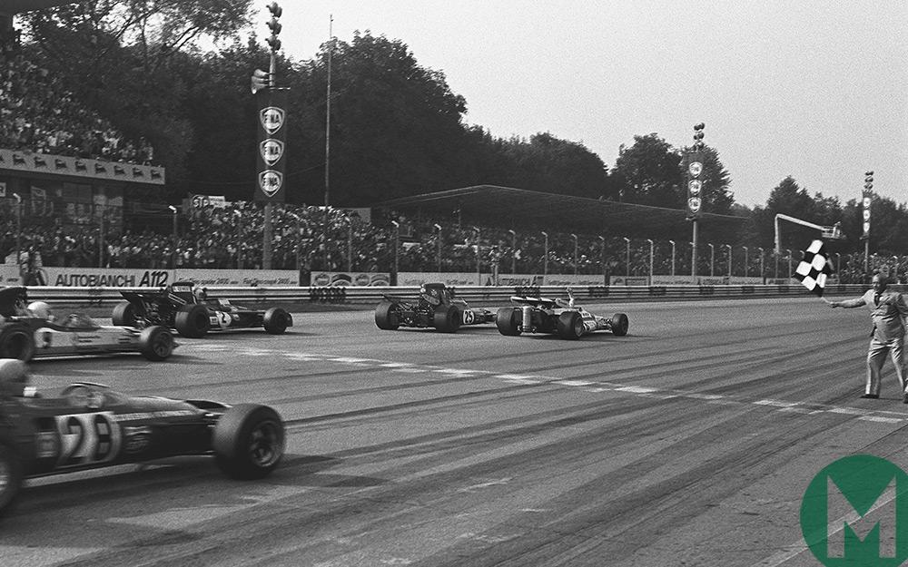 The finish of the 1971 Italian Grand Prix
