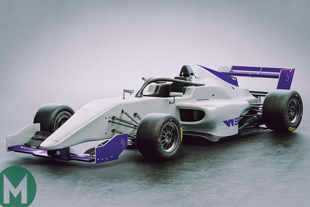 Formula 3-spec W Series car