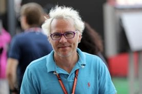 Jacques Villeneuve at Zolder for the first time, 37 years after Gilles' death