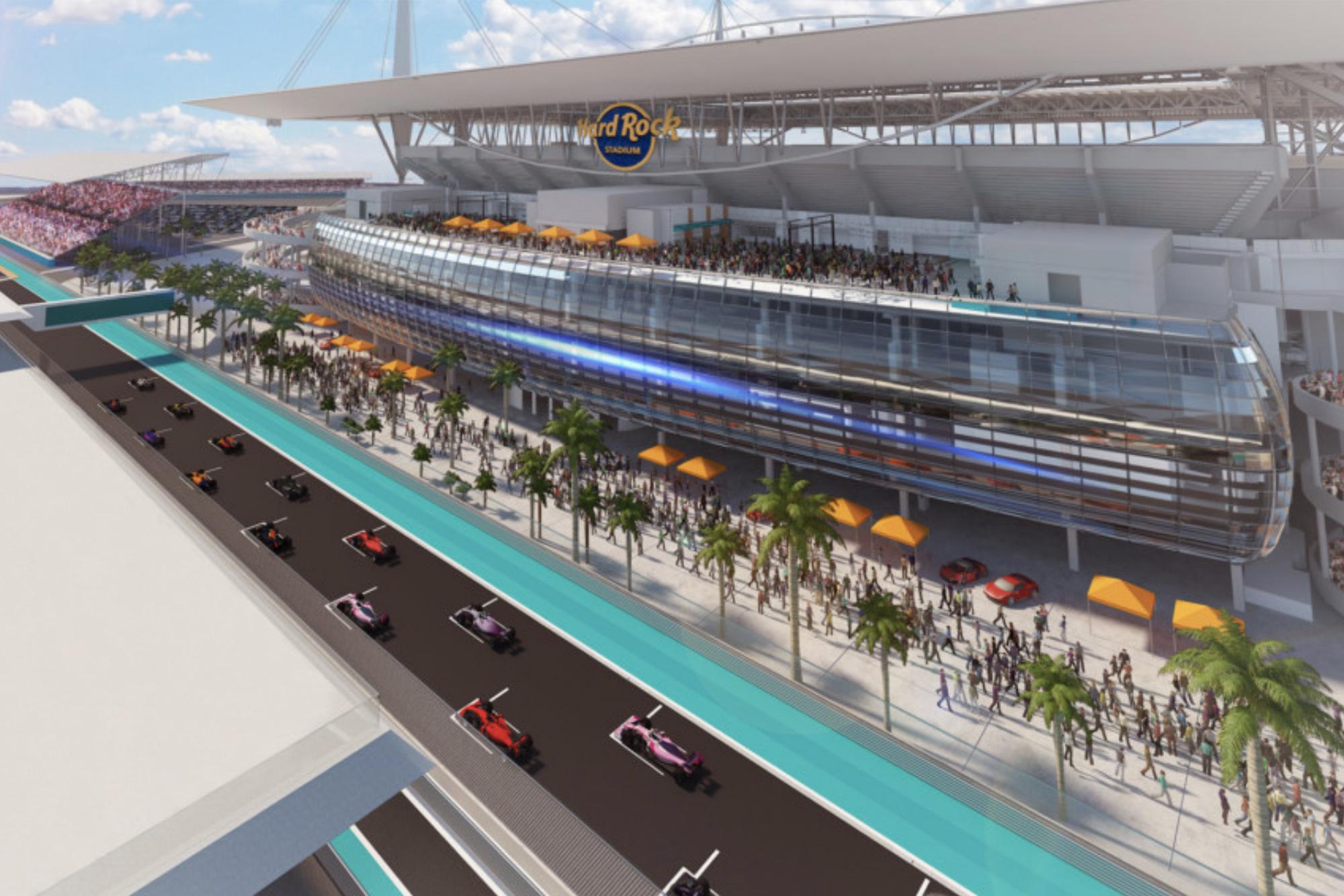 The proposed Formula 1 Miami Grand Prix circuit for 2021