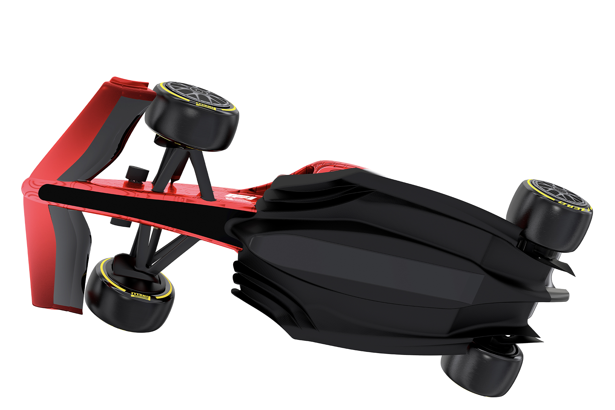Underneath view of a 2021 F1 car