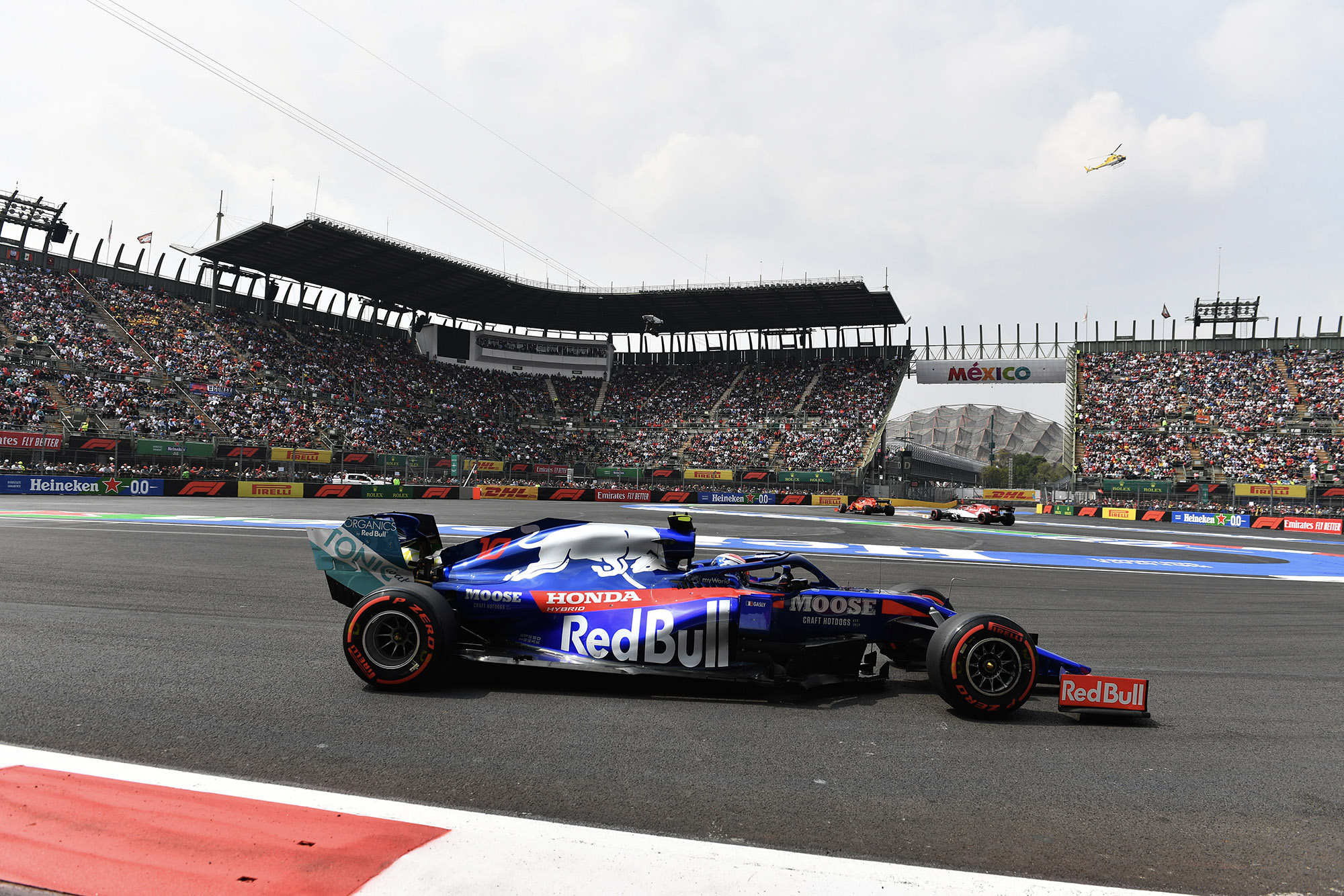 Toro Rosso during qualifying for the 2019 F1 Mexican Grand Prix